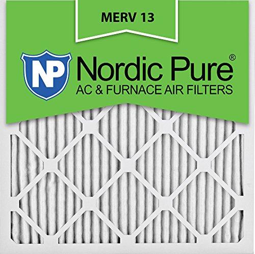 Nordic Pure 25x25x1M13-6 25x25x1 MERV 13 Pleated AC Furnace Air Filter, Box of 6, 1-Inch