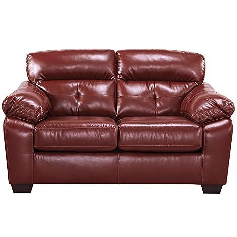 Flash Furniture Crimson DuraBlend Loveseat Bastrop Series FBC-4299LS-CRM-GG