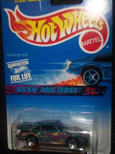 Rockin Rods Series #4 Porsche 930 5-Spoke Metallic Blue In Tampo 97 Card #572 Mint