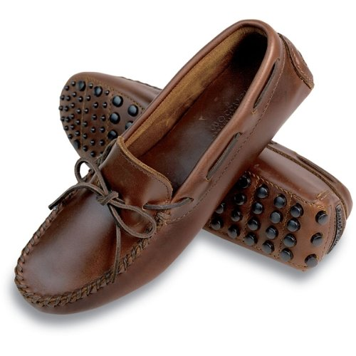 Minnetonka Women's Classic Driving Moccasin Dark Brown Lariat Size 6.5