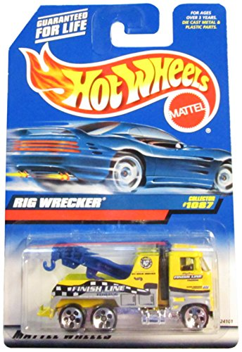 -#1087 Rig Wrecker Collectible Collector Car Mattel Hot Wheels 1:64 Scale - 1