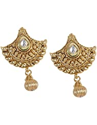 South Indian Style Gold Plated Polki Earring For Women Gift Jewelry