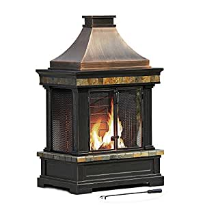 Sunjoy L-OF082PST-3 Welton Fire Place