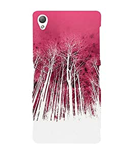 Colorful Forest Cute Fashion 3D Hard Polycarbonate Designer Back Case Cover for Sony Xperia Z3 Compact :: Sony Xperia Z3 Mini :: Sony Xperia Z3 D5803, D5833