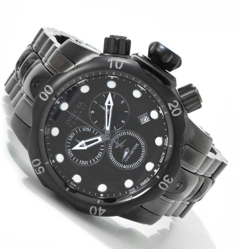 Invicta Men's 5729 Reserve Collection Black and Gunmetal Ion-Plated Chronograph Watch