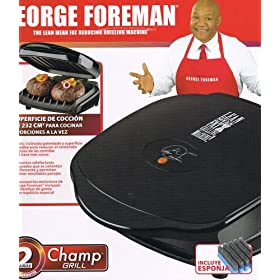 Home Kitchen Countertop Portable Personal Electric Contact Champ Grill - The Lean Mean Fat Reducing Grilling Machine - Knockout the Fat, Cook Faster, Eat Healthier, Live Better