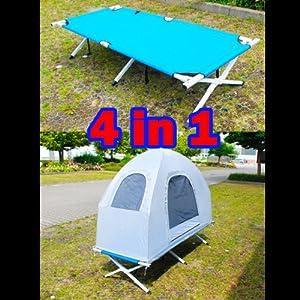 4in1 alu feldbett campingliege klappbett camping zelt bett bis zu 150kg mit luftmatratze. Black Bedroom Furniture Sets. Home Design Ideas