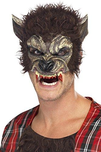 Smiffys Men's Werewolf Half Face Mask - 1