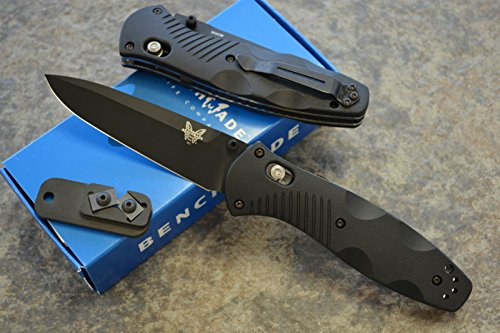 Benchmade 580BK Barrage Assisted Opening Knife with FREE Benchmade Sharpener