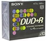 Sony DVD+R 4.7Gb (8X Speed) Colour 10pk