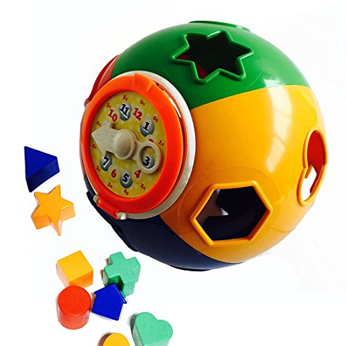 YIXIN-Colorful-Plastic-Shape-Sorter-Ball-with-Teaching-Clock-Baby-First-Blocks-Shape-Sorting-Toy-for-Early-Learning-for-2-Year-Old