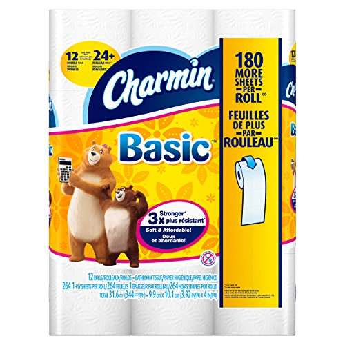 Charmin Basic Double Roll Toilet Paper, 48 Count