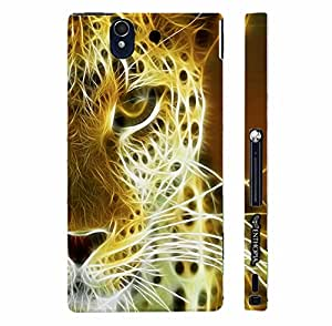 Sony Xperia Z TIGER ELECTRIFIED designer mobile hard shell case by Enthopia