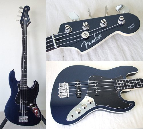 Fender Japan Medium Scale Aerodyne Jazz Bass Ajb-M Blue Electric Bass (Japan Import)