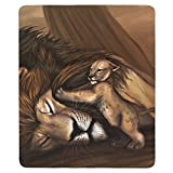 Sad Lion Scene Rectangular Mouse Pad