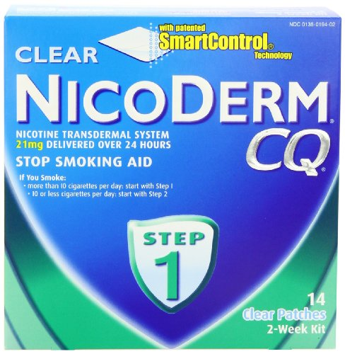 Buy NicoDerm CQ Step 1 Clear Patch 21 mg 2-Week Kit 14 patchesB00008IHSU Filter