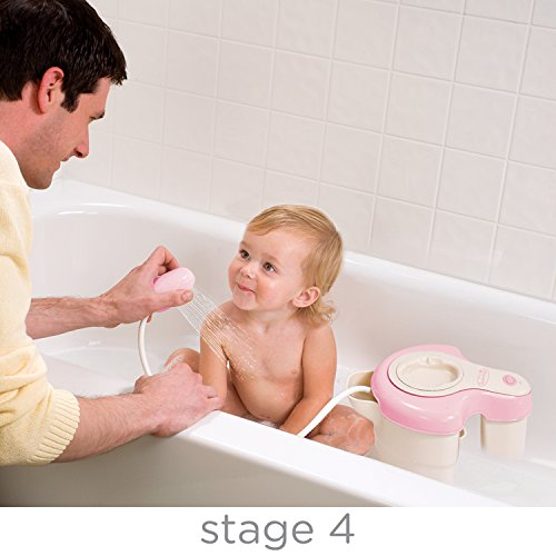summer infant soothing spa and shower baby bath pink baby girls