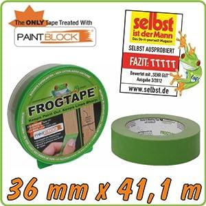 "Malerabdeckband ""FrogTape"" mit PaintBlock-Technologie, 36 mm x 41.1 m"