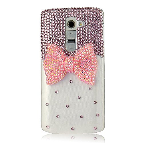 Ltieltie™ Handmade Luxury Bling Bow Bowknot Diamond Rhinestone Crystal Jewelled Gems Hard Case Cover For smart phones (iPhone 5C ) (5c Phone Case Gems compare prices)