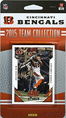 Cincinnati Bengals 2015 Score NFL Football Factory Sealed EXCLUSIVE Limited Edition 12 Card Complete Team Set with AJ Green, Andy Dalton, Derron Smith RC and Many More! Shipped in Bubble Mailer