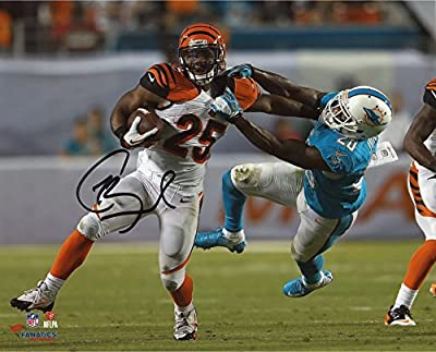 "Gio Bernard Cincinnati Bengals Autographed 8"" x 10"" Stiff Arm vs. Miami Dolphins Photograph - Fanatics Authentic Certified"