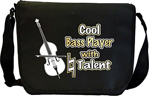 Double Bass Cool Player With Natural Talent - Sheet Music Document Bag Borsa Spartiti MusicaliTee