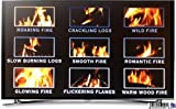 A VIRTUAL LOG FIRE - A LOG FIRE WITHOUT ALL THE HASSLE - NINE INDIVIDUAL LOG FIRE OPTIONS TO CHOOSE FROM