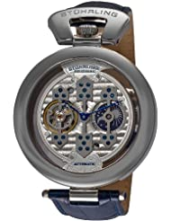 Stuhrling Original Men's 127B.3315C2 Special Reserve Emperor 1889 Automatic Skeleton AM/PM Indicator Blue Watch