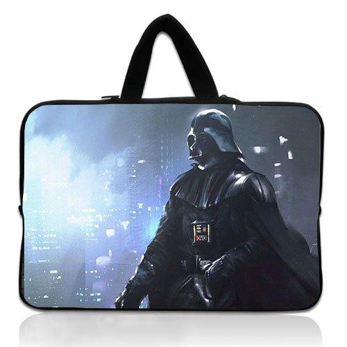 New Custom 10 Inch Portable Laptop handbag With Star Wars Darth Vader Anakin Skywalker Neoprene Laptop Sleeve for 10 10.1 Inch Laptop Bag Cover(Twin Sides)