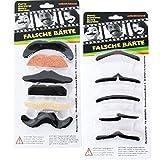 11 Unidad Barbas para el pegamento mal Bigotes auta-adhesivo Bigote Barba Traje Carnaval