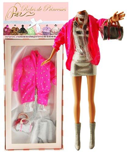 """Vestito da principessa """"LUCIE"""" per Bambole Barbie, Disney ed altri personaggi."""