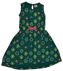 Pinehill Girls' Dress (Green, 6 Years)