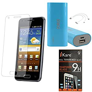 iKare Pack of 8 Tempered Glass for Micromax Canvas Fire 2 A104 + 3600 mAh Power Bank