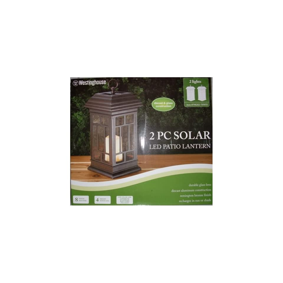 Westinghouse 2PC Solar LED Patio Lanterns