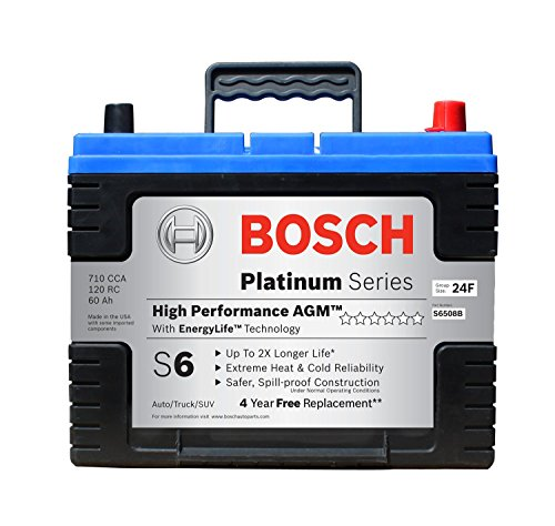 Bosch S6508B S6 Flat Plate AGM Battery (Toyota Corolla Battery 2009 compare prices)