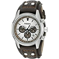 Fossil Men's Cuff Chronograph Tan Leather Watch (CH2565)