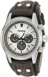 Fossil Cuff Chronograph white Dial Mens Watch - CH2565