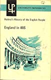 img - for England in 1815 : Halevy's History of the English People in the Nineteenth Century Vol. 1 book / textbook / text book