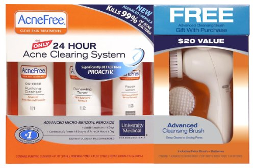 Oil Free 24 Hr Acne Treatment Kit By Acnefree