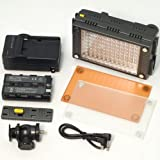 96 LED Video Light for DV Camcorder Camera Studio Lighting Z96 + Battery LF112