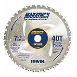 IRWIN Tools MARATHON Carbide Corded Circular Saw Blade, 7 1/4-inch, 40T (14031) (Tamaño: 7-1/4