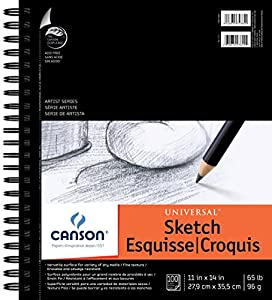 Canson 11-Inch by 14-Inch Universal Sketch Book, 100-Sheet