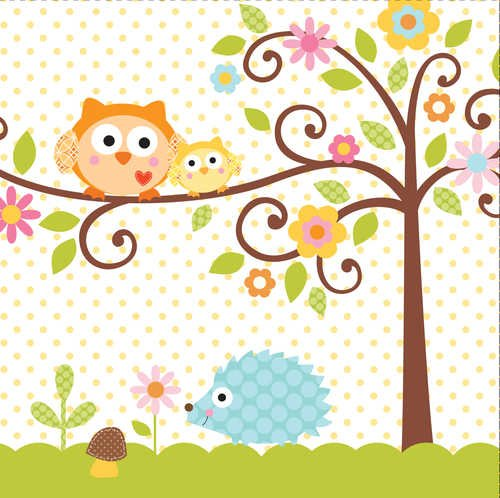 Sale!! Creative Converting Happi Tree Sweet Baby Luncheon Napkins, 16 Count