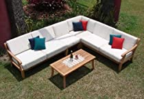 Big Sale Sunbrella Fabric cushions (Seat & Back) for 2 Sofas(Left & Right), 1 Lounge Armless Chair & 1 Corner Piece -Cushions only