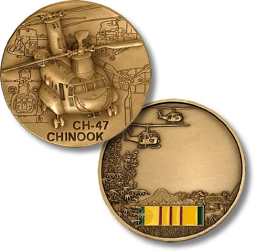 CH-47 Chinook / Vietnam Engravable Challenge Coin
