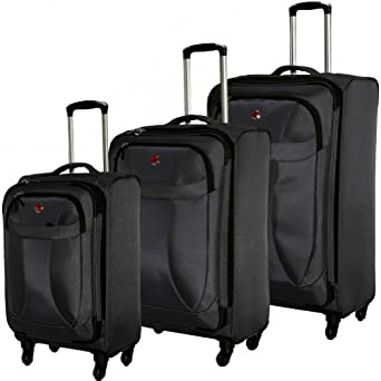 SwissGear Spinner Lite 3 Piece Set Black