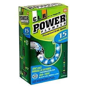 CLR Power Plumber Pressurized Drain Opener Plunger Kit, 4.5-Ounce Can