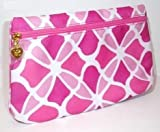 Estee Lauder Cosmetic Bag - Pink and White