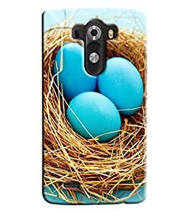 Omnam Blue Eggs Printed Designer Back Cover Case For LG G3