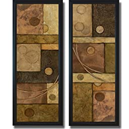 Circle Game I & II by Norm Olson 2-pc Framed Canvas Set